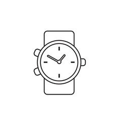 Watch icon in line style clock flat vector