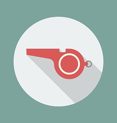 Whistle flat icon vector image vector image
