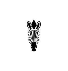 Zebra head logo negative space style vector