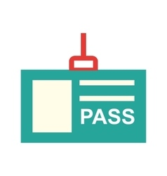 Pass card vector