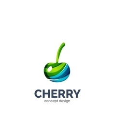 Creative abstract cherry fruit logo vector