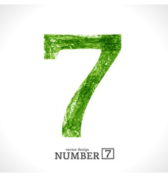 Grunge Number 7 vector image