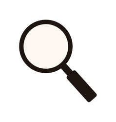 Monochrome silhouette of magnifying glass vector