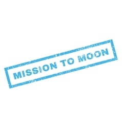 Mission to moon rubber stamp vector