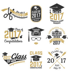 Class of 2017 badge vector