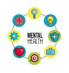 Mental health symbol tips vector