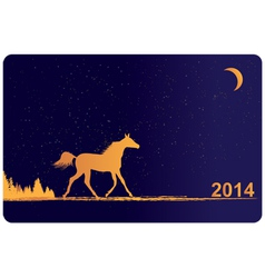 New Year 2014 horse vector image