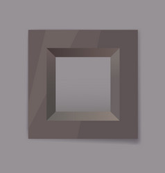 dark chrom metal frame blank vector image