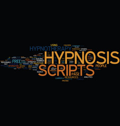 Free hypnotherapy scripts text background word vector