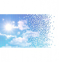 Pixelate sky vector