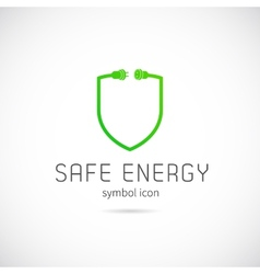 Safe energy concept symbol icon or logo template vector