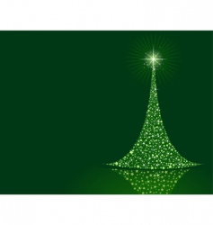 Stylized christmas tree background vector