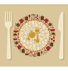 Food and restaurant concept vector