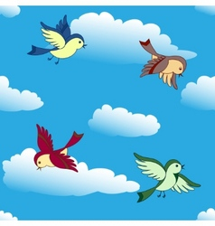 Birds flying vector
