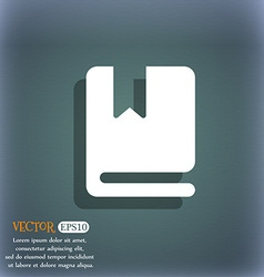 Bookmark icon symbol on the blue-green abstract vector