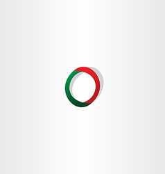 Green red logo letter o symbol vector