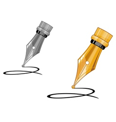 Ink pen writing vector