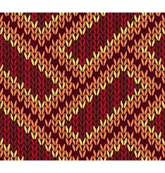 Ethnic knitted seamless background vector