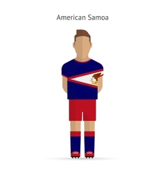 American samoa football player soccer uniform vector