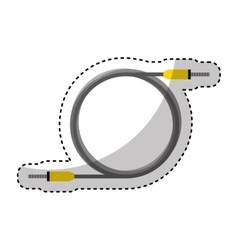 Audio plug cable isolated icon vector