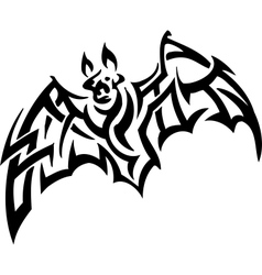 bat in tribal style - vector image