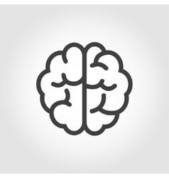 black line brain icon vector image