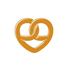 Bretzel heart love logo vector image
