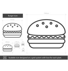 Burger line icon vector