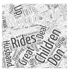 Children and motorcycles word cloud concept vector