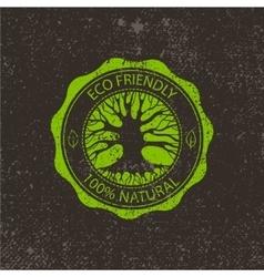 circle eco logo tree vector image