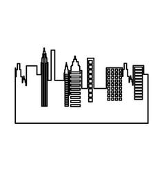 Cityscape skyline isolated icon vector