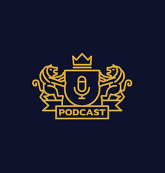 Coat of arms podcast vector