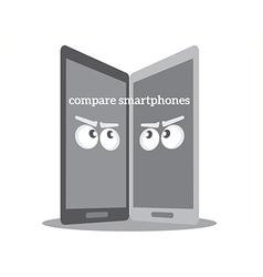Compare smarthphones vector