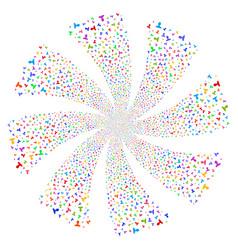 Customer fireworks swirl rotation vector