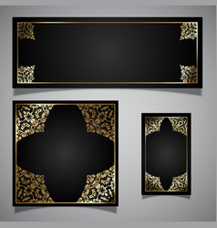 elegant backgrounds collection vector image vector image
