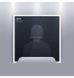 Empty photo frame on grey background vector image
