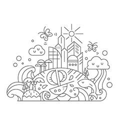 Fantasy island vector