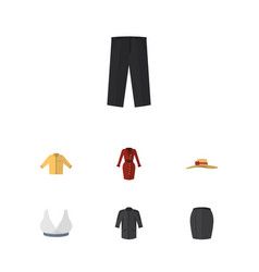 Flat garment set of banyan clothes stylish vector