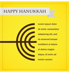 hanukka menorah on yellow happy hanukkah vector image vector image