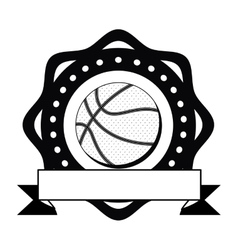 Isolated ball of basketball design vector image