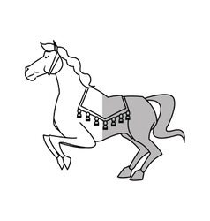 Isolated carnival horse design vector