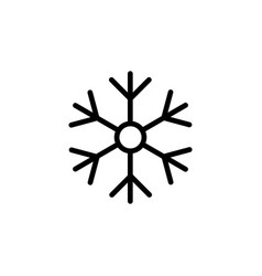line snowflake icon on white background vector image