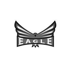 Logo eagle spread the wings hawk sport mascot vector