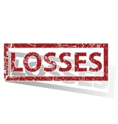Losses outlined stamp vector