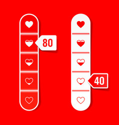 Love meter happy valentines day celebration vector