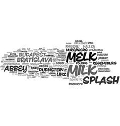 Melk word cloud concept vector