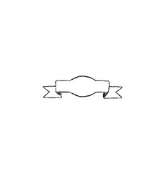 ribbon icon vintage vector image