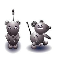 robot rat vector image vector image