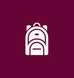rucksack icon simple vector image
