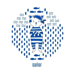 Sailor design vector